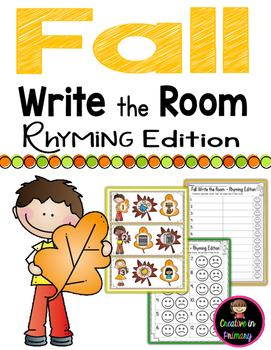 Fall Write the Room - Rhyming Edition