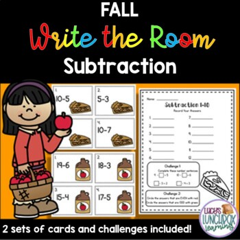 Fall Write the Room - Subtraction