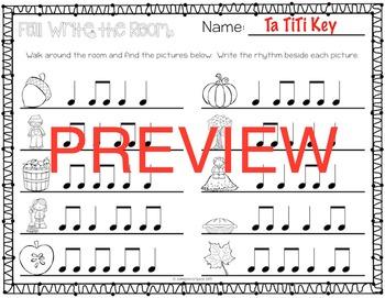 Fall Rhythm Write the Room {Ta TiTi}