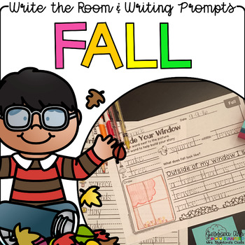 Fall - Write the Room Writing Prompts {Print on Cardstock or Post It Notes}