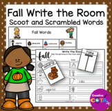 Fall Write the Room and Scrambled Word Scoot
