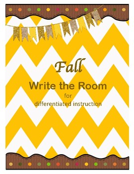 Fall Write the Room- differentiated