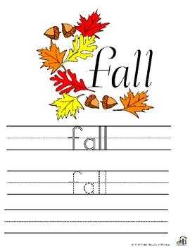 Fall Writing