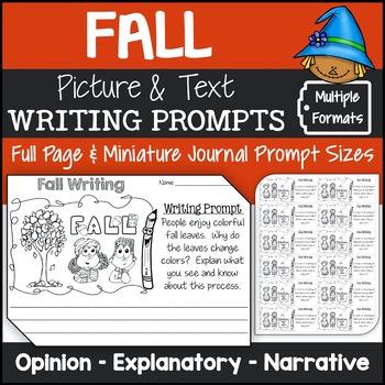 Fall Writing Prompts {Narrative Writing, Informative & Opinion Writing}