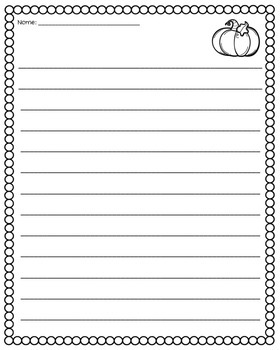 Fall Writing Activities: Autumn and Thanksgiving