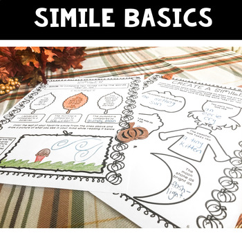 Fall Writing Activities | Similes | November Writing Activities