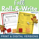 Fall Writing Activity - Roll & Write Center - Distance Learning