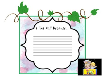 Fall - Writing Activity and Bulletin Board Decorations