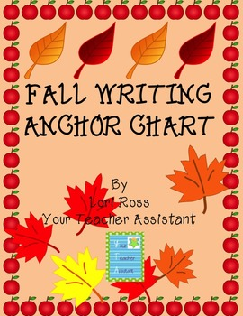 Anchor Chart {Fall Writing}