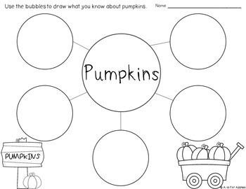 Fall Writing {Bubble Maps & Writing Pages}