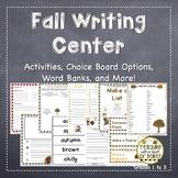 Writing Center   Writing Center Activities   Fall Writing Activities   Fall