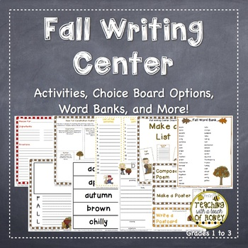 Writing Center | Writing Center Activities | Fall Writing Activities | Fall