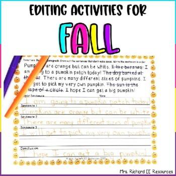 Fall Paragraph Scramble and Fix It