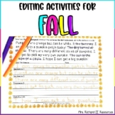 Fall Paragraph Scramble and Fix It