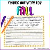 Fall Editing Sentences