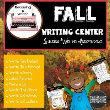 Fall Writing Center Task Cards and Worksheets