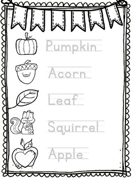 Fall Writing Center Words