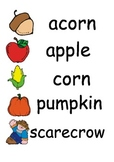 Fall Writing Center/Word Wall Cards