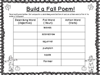 Fall Writing Centers For the Primary Classroom!