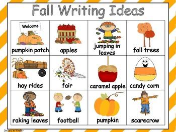Fall Writing Chart