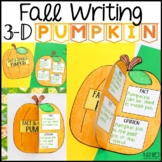Fall Writing Craftivity: 3-D Pumpkins