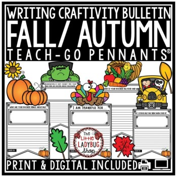 Fall Writing Prompts 3rd Grade, 4th Grade Halloween Writing, Fall Bulletin Board