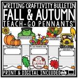 Digital Fall & Thanksgiving Writing Prompt Activities, Fall Bulletin Board