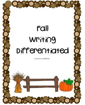 Fall Writing Differentiated