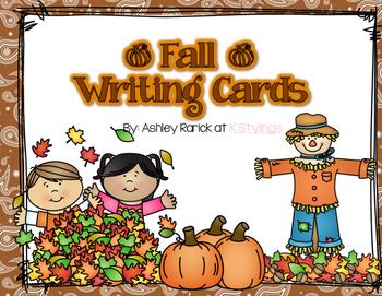 Fall Writing Display Cards