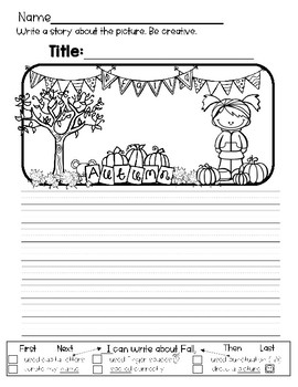 Fall Writing FREEBIE