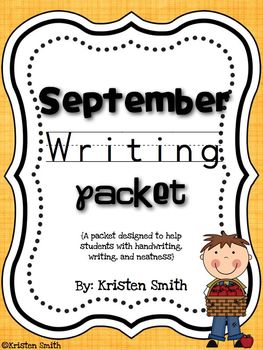 September Writing! Helping children with handwriting and writing skills!