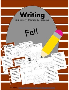 Fall Writing-Informative Opinion Narrative CCSS