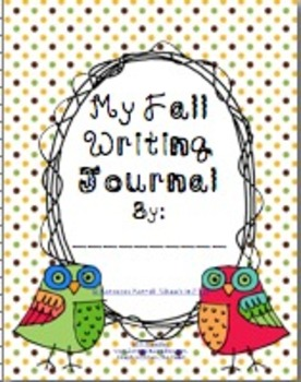 Fall Writing Journal Cover
