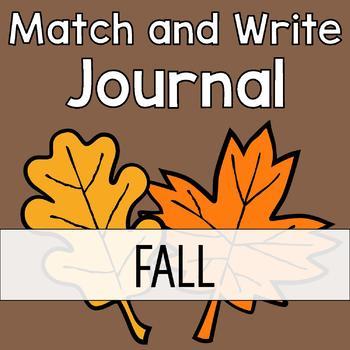 Fall Writing Journal: Match & Write