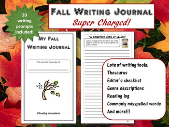 Back to School:  20 Fall Writing Prompts in a Super Charged Journal