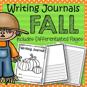 Fall Writing Journals: Differentiated Writing Pages