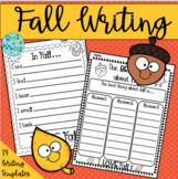Fall Writing prompts and activities