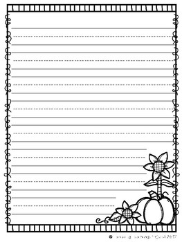 Fall Writing Pages {Ladybug Learning Projects}