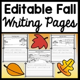 Fall Writing Paper {6 Editable Writing Pages!} {Fall Writing Activities}