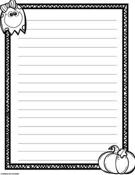Fall Writing Paper FREEBIE