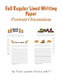 Fall Writing Paper: Regular Lined (Portrait Orientation)