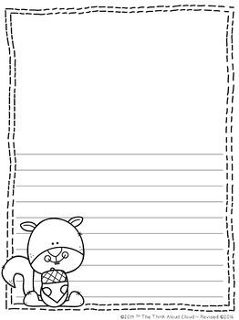 Fall Writing Paper ~ UNPLUGGED