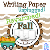 Fall Writing Paper ~ UNPLUGGED