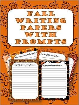 Fall Writing Paper with Prompts