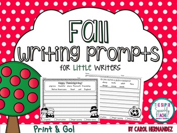 PRINT & GO Fall Writing Prompts