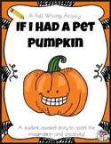 Fall Writing Pet Pumpkin