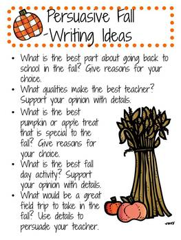 Fall Writing: Poetry, Personal Narratives, Persuasive Writing, and More!