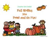Fall Writing Printables plus Print and Go Fun