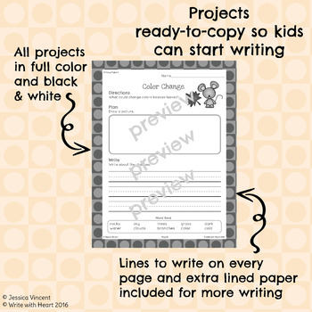 Fall Writing Projects (Primary Edition)