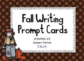 Fall Writing Prompt Cards {Freebie}